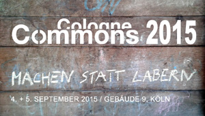 Cologne Commons 2015